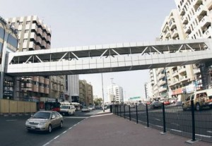 The new walkway over Bank Street Image Credit: Xpress /Virendra Saklani