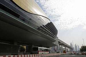 Al Karama station, one of seven that will be ready for Dubai Metro passengers in April. Jeffrey E Biteng / The National