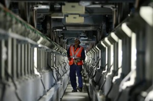 # Inspection is done by engineers through a computer system called Train Control Monitoring System. Most of the maintenance, cleaning and inspection is done between midnight and 4am when the service stops. # Image Credit: Francois Nel/Gulf News