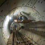 Labourers work on part of the Xi'an subway system in China. It will eventually have six lines. Nelson Ching / Bloomberg