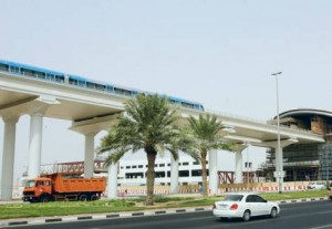 *  A test run continues near the Etisalat station in Al Qusais on the Dubai Metro Green Line, which is expected to open in August 2011. The average number of passengers per day on the Red Line has risen from 35,000 last year to 110,000.     * Image Credit: KAREN DIAS/Gulf News