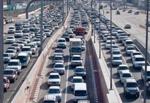 *  Bumper to bumper traffic on Al Ittihad Road which is used mostly by motorists commuting between Dubai and Sharjah. The number of vehicles plying on to Dubai roads has increased to some 1.4 million.     * Image Credit: Oliver Clarke/Gulf News