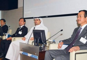 *  Hamad Bu Amim, Director General of the Dubai Chamber of Commerce and Industrywith Hiroki Matsvmoto (right), managing director of the Japanese External Trade Organisation and Takashi Ashiki (left), Japanese consul general in Dubai.     * Image Credit: Supplied picture