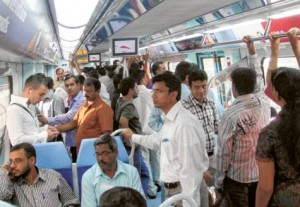 * The number of Metro commuters was even higher on Friday with some 101,533 passengers using the system compared to around 80,000 on normal Fridays. The extended hours attract more commuters as the system becomes a popular choice for many Dubai commuters.     * Image Credit: VIRENDRA SAKLANI/Gulf News