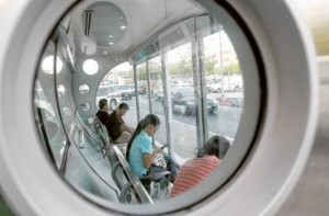 *  Image Credit: Virendra Saklani/Gulf News     * In Dubai, the Roads and Transport Authority has provided 900 air-conditioned bus shelters to let passengers wait in cool comfort till their buses arrive.