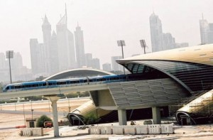 *  Image Credit: Virendra Saklani/Gulf News     * A train passes a station near Jaddaf on the Green Line during a trial run on Tuesday. The exact date for the opening of the Green Line will be announced next month.