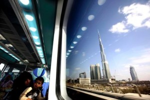 Dubai Metro in operation. (Getty Images)