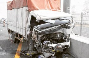 *  Image Credit: Gulf News archive     * The impact of accidents caused by heavy vehicles is higher in terms of fatalities and damages, RTA official Behroozian said.