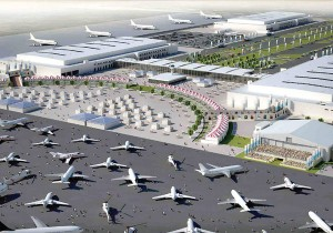 An artist's impression of the new airshow venue. — Wam