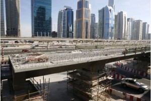 The Dh3.2bn Al Sufouh tram project, which will run from Dubai Marina through Media City and up to Knowledge Village when completed in 2014, is among several projects aimed at cutting reliance on cars.  Pawan Singh / The National