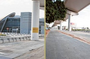 *  Image Credit: Kamil M. Panna/Gulf News Reader     * The dilapidated road forces motorists to swerve suddenly to avoid potholes, and pedestrians have no option but to walk on the same uneven surface in the absence of a footpath.