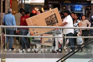 Jumbo Electronics, a multi-brand electronics store, projects that sales will jump 50 per cent during DSF compared with a normal month. Pawan Singh / The National