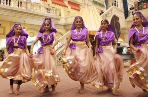 *  Image Credit: Florence Pia G. Yu/Gulf News     * Indian classical dancers perform at a Dubai Shopping Festival event in Mercato, Dubai.