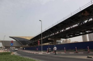 Image Credit:     Bridge too near: The air-conditioned bridge heading into Downtown Dubai is expected to be a big relief, especially in summer FRANCOIS NEL/XPRESS