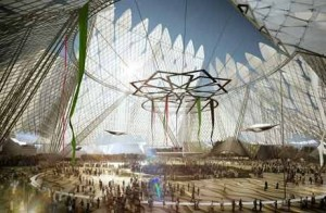 An artist's impression of the UAE's World Expo site.