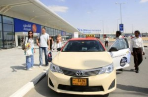 Image Credit: Zarina Fernandes/XPRESS Return fare: Taxis charge an additional Dh20 on their return trip from Al Maktoum International Airport