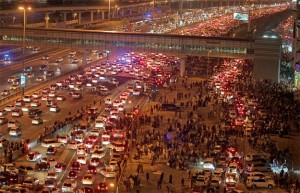Motorists will be issued tickets and their cars impounded for three to six months if they park in the middle of the road to watch fireworks. — KT file photo