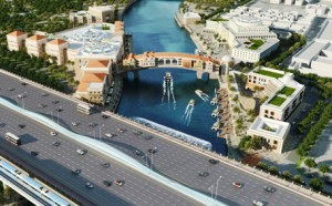 Artist's impression of the canal project when finished. (Supplied)