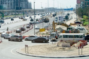 A section of the road diversion along Shaikh Zayed Road as on Friday. — KT photo by Leslie Pableo