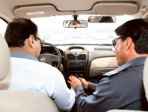Image Credit: Virendra Saklani/Gulf News Archives A student being briefed by a driving instructor before going on the road . The new system will keep track of records, timings, history as well as the activities of all training sessions