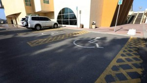Parking for the disabled are provided at convenient slots closest to buildings and ramps, provided they have handicap stickers. - Photo by Dhes Handumon
