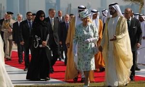 Mohammed sejk II. Erzsébet királynővel