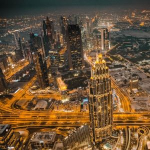 Dubai éjjeli városnézés