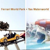 Abu Dhabi 1 nap 2 park belépőjegy: Ferrari World Park és Yas Waterworld