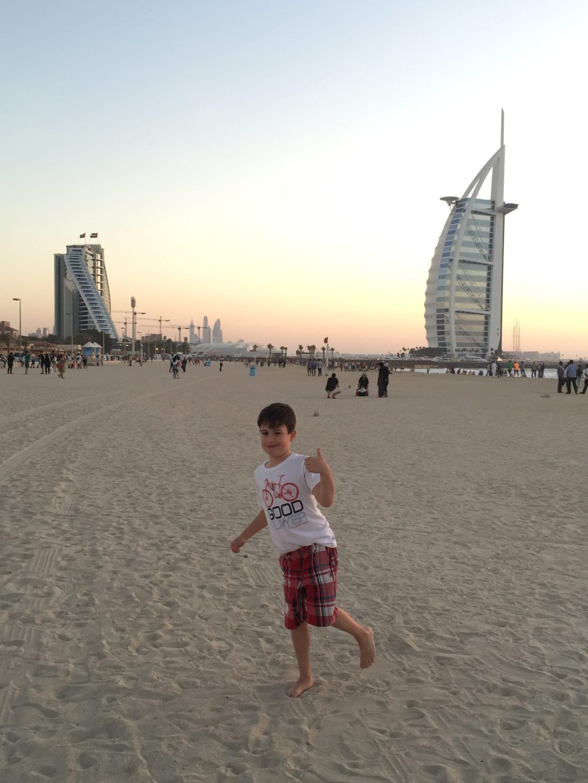 Budai Marci 2015 április - Dubai, Jumeirah Open Beach