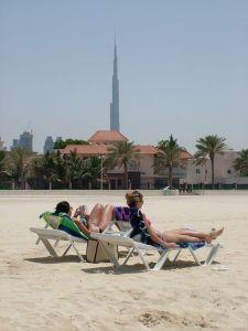 Burj Khalifa a strandról