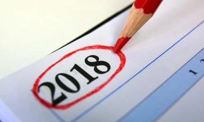 Il calendario delle ferie per il 2018