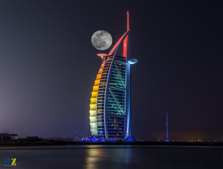 Burj Al Arab Moon Night