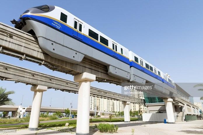 Dubai Monorail Train