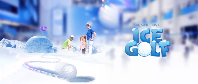 Dubai Ice RInk Ice Golf