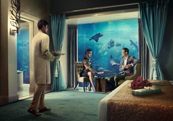 Atlantis Dubai Underwater Suite - Romantic Places in Dubai