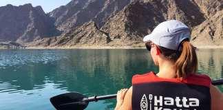 Hayaking in Hatta lake