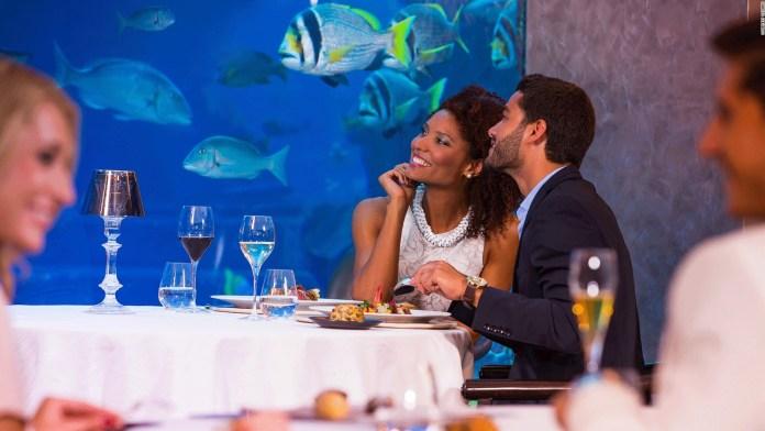 Atlantis Dubai Underwater Restaurant - Romantic Places in Dubai