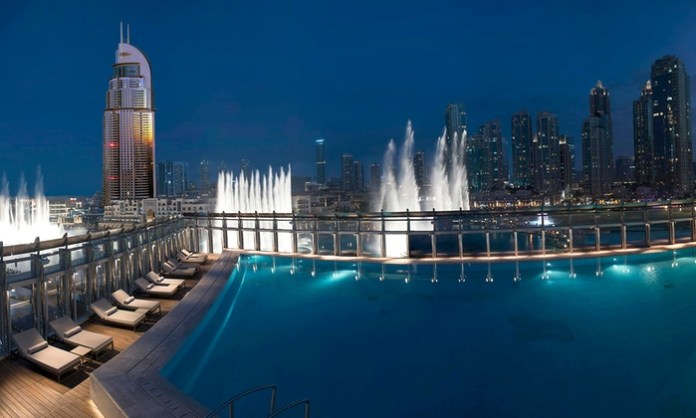 The Burj Club Pool - Romantic Places in Dubai