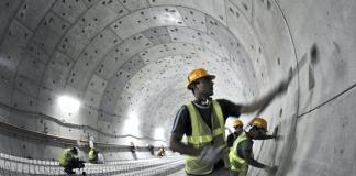 Underground Dubai Metro Tunnel at Union Square Station