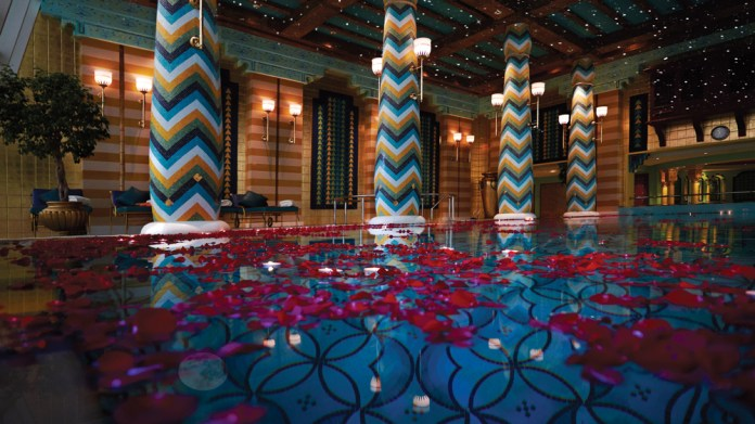 burj al arab natural light swimming pool - Romantic Places in Dubai