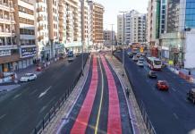 New Dubai Bus and Taxi Lanes