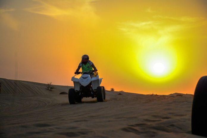 Quad bike in Dubai desert safari