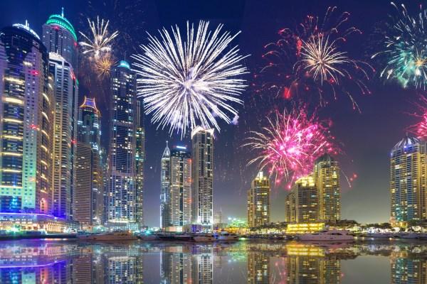 New Year 2018 Fireworks in Dubai UAE. Latest Events in UAE