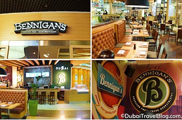 restaurant bennigans dubai mall