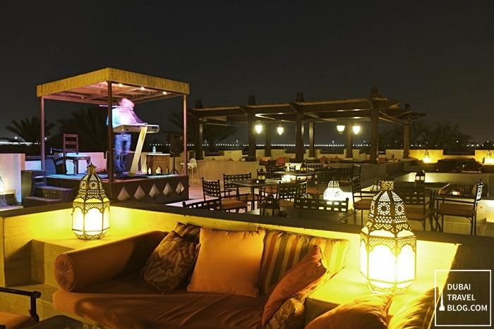 Dinner at Al Sarab Rooftop Lounge in Bab Al Shams | Dubai ...