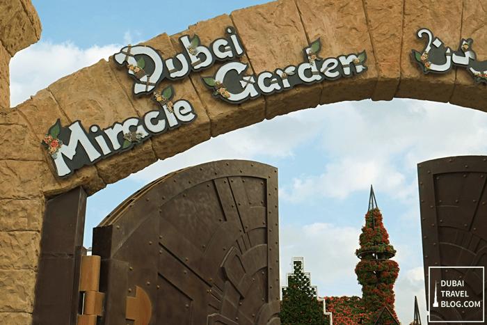 dubai miracle garden signage
