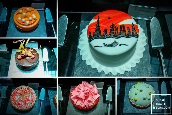 desserts at fountain resto movenpick