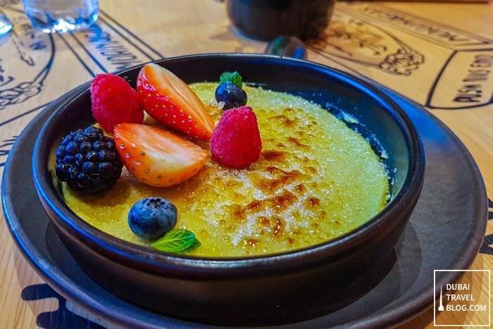 pandan creme brulee sizzling wok dubai