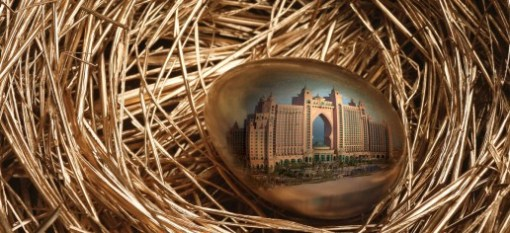 Easter Sunday might be a normal working day in the UAE, but there are Easter activities going on all over the emirate, and tonnes of eggs for sale. I also rather liked this image of a golden egg, reflecting Dubai's Atlantis hotel. Here's hoping you're having a great Easter weekend!