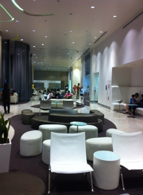 This is one of the places we go to for healthcare. The 60,000-square-foot state-of-the-art centre is located in a shopping mall. You go to Fashion Parking and can valet park if you like. This is the airport terminal-style waiting room where you can people watch on stylish seating, before being led off to one of the 50 consultation suites. In all honestly, I still haven't quite got used to seeing the doctor at the mall.